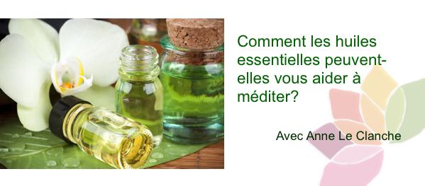 huile essentiellle et méditation